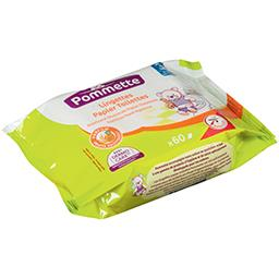 Lingettes papier toilettes parfum melon, 3+ ans