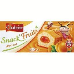 Snack' mini fourrés abricot