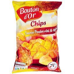 Chips de pommes de terre saveur poulet rôti & thym
