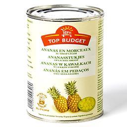 Ananas en morceaux au sirop léger