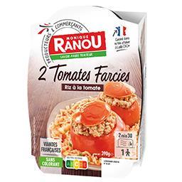 Tomates farcies et riz 3 couleurs