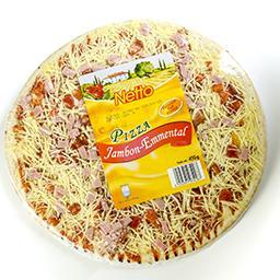 Pizza jambon emmental - cuisson sur pierre