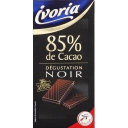 Dégustation noir, chocolat noir 85% de cacao