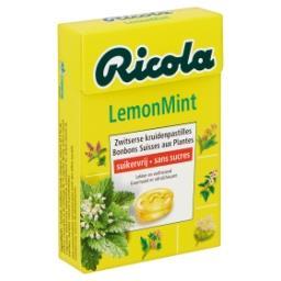 Lemon Mint Bonbons Suisses aux Plantes