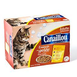 Repas complet pour chats adultes - émincés en gelée