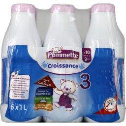 Lait de suite liquide, de 10 mois à 3 ans, Croissanc...
