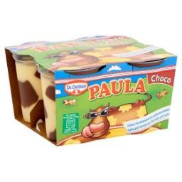 Paula pudding chocolat avec des taches de vanille