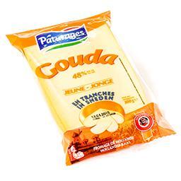 Fromage jeune de hollande 48% - gouda - en tranches