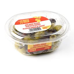 Mélange olives vertes et noires