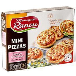 Mini pizzas au jambon et au fromage