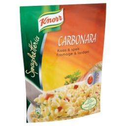 Spaghetteria carbonara - pâtes au fromage et aux lar...