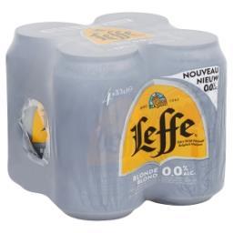 Bière Belge d'Abbaye Blonde 0,0% Alc. Canettes