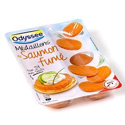 Médaillons de saumon fumé - pour 24 mini toasts