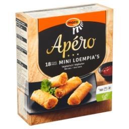 Apéro mini loempia's végétarien avec sauce
