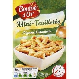 Mini-feuilletés oignons-ciboulette