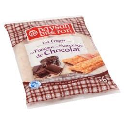 Les Crêpes au Fondant et Morceaux de Chocolat 6 x 30...