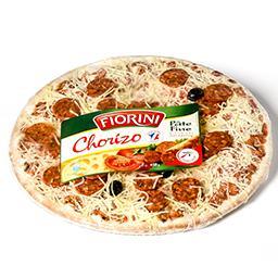 Pizza chorizo - pâte fine