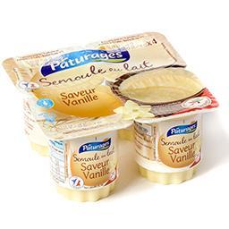 Semoule au lait saveur vanille