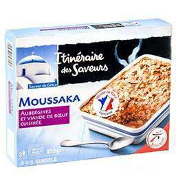 Moussaka - aubergines et viande de boeuf cuisinée