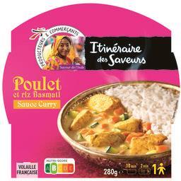 Poulet sauce curry et riz basmati - saveur de l'inde