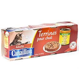 Terrines pour chats adultes - viandes et poissons au...