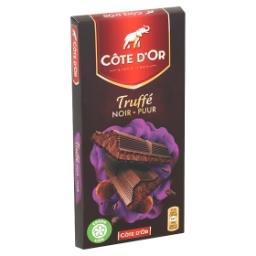Tablette de chocolat noir truffé