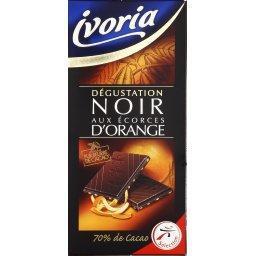 Chocolat noir aux écorces d'orange - dégustation