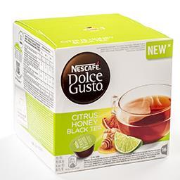 Dolce Gusto capsules thé noir aux agrumes et miel