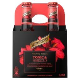 Tonic - hibiscus - premium mixer - contient de la qu...