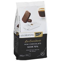 Les Envoûtants mini-chocolats noir 70%