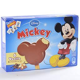 Mickey mini-bâtonnets de glace à la vanille enrobage...