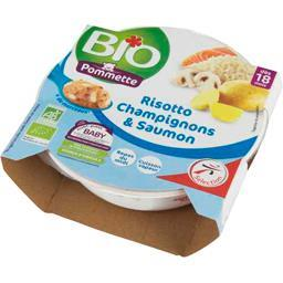 Risotto champignons & saumon BIO, dès 18 mois