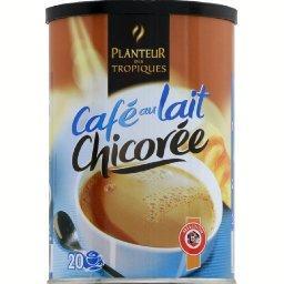 Café au lait chicorée, préparation instantanée