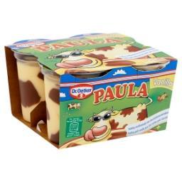 Paula pudding vanille avec des taches de chocolat