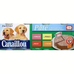 Terrine à la viande et aux légumes pour chiens junio...