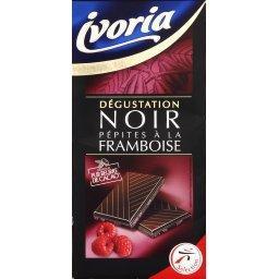 Le fruité chocolat noir éclats framboise