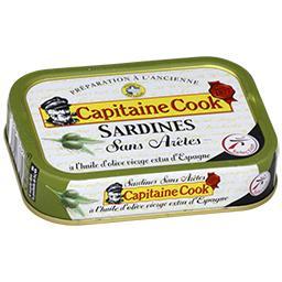 Sardines sans arête à l'huile d'olive vierge extra