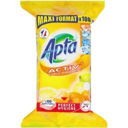 Activ' - lingettes nettoyantes multi-surfaces citrus...