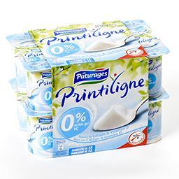 Printiligne - yaourt nature maigre 0% enrichi en vit...