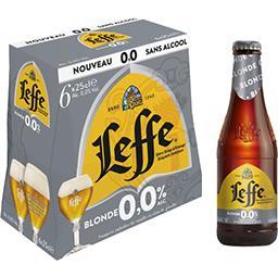 Leffe Leffe Bière blonde sans alcool les 6 bouteilles de 25 cl