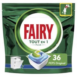 Fairy Fairy Capsules pour lave-vaisselle tout-en-1 plus original peps Le paquet de 36 capsules