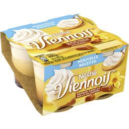 Nestlé Nestlé Le Viennois - Dessert lacté saveur vanille sur lit de caramel les 4 pots de 100 g