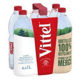 Vittel Vittel Eau minérale naturelle les 6 bouteilles de 1 l