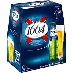 Kronenbourg 1664 Bière blonde le pack de 6x25cl