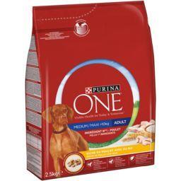 Purina One Purina One Croquettes riche en poulet riz pour chien Medium-Maxi le sac de 2,5 kg