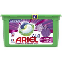 Ariel Ariel Lessive en capsules allin1 pods + protection des fibres textiles La boite de 31 capsules