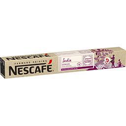 Nescafé Nescafe Café Farmers Origins India les 10 capsules