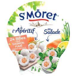 St Môret St Môret Apéritif - Billes cœur saumon fumé citron et ciboulette la barquette de 100 g