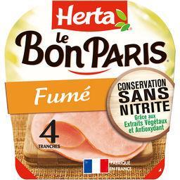 Herta Herta Le Bon Paris - Jambon fumé la barquette de 4 tranches - 140 g