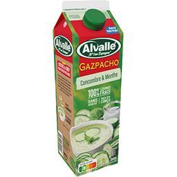 Alvalle Alvalle Soupe froide concombre & menthe la brique de 1 l